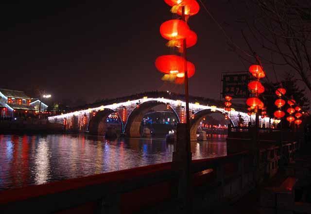 杭州运河亮灯仪式